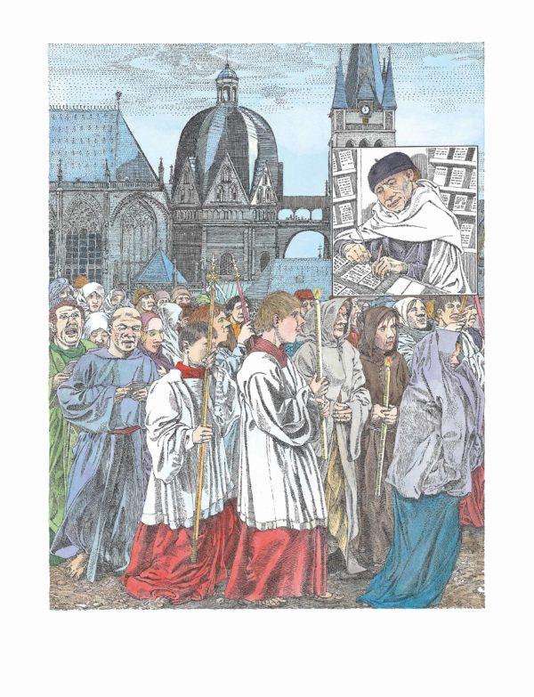 """Innenansicht aus dem Bilderbuch """"Johannes Gutenberg"""""""