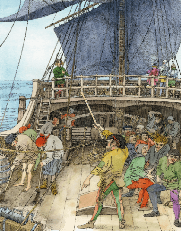 Magellan-Schiff-Illustration