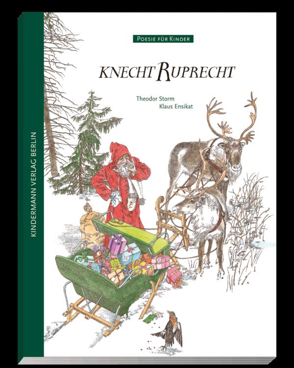 """3D Cover des Bilderbuches """"Knecht Ruprecht"""" von Theodor Storm, aus dem Kindermann Verlag"""